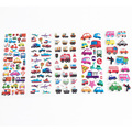 Kids Fashion Bubble Stickers Diary Cars Notebook Sticker For Children Girls&Boys Classic Toys Label Decoration Baby Gift WB585