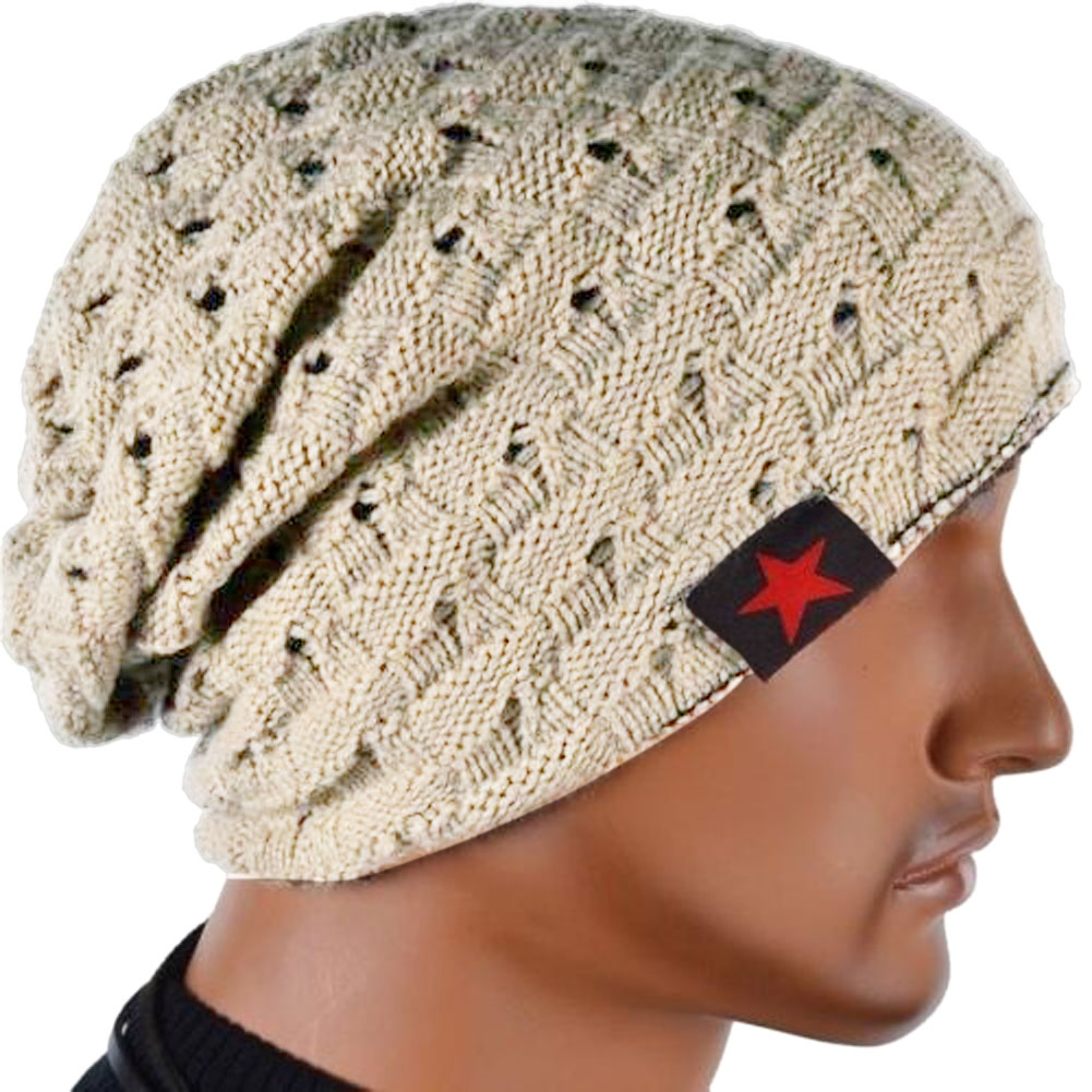 Knit Beanie Baggy-Cap Skull Chunky Winter New-Fashion Men Hat-B5 Reversible Hot-Selling