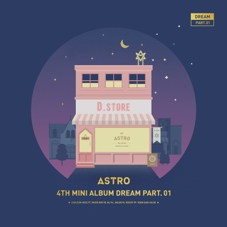 ASTRO 4TH MINI ALBUM - DREAM PART.01 (VER. NIGHT) - Release Date 2017.05.30 exo 4th album repackage the war the power of music chinese ver korean ver 2 version set release date 2017 09 06