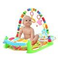 Multifuncional Jogar Baby Mat Chutando e Tocando Piano Body-building com Luzes Piscando para a Inteligência Do Bebê Brinquedo Educativo