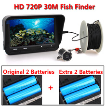 30m 720P Professional Underwater Ice Fishing Camera Night Vision Fish Finder 6pcs Infrared LED 4.3 inch LCD Monitor Fish Cam
