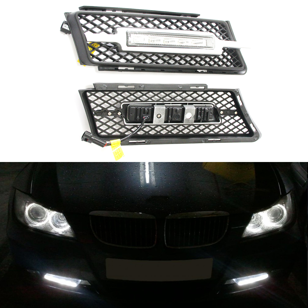 2017 New 2X 5 LED Car Daytime Running Light DRL Daylight Lamp with Turn Lights for BMW 3 series E90 E91 2005-2008