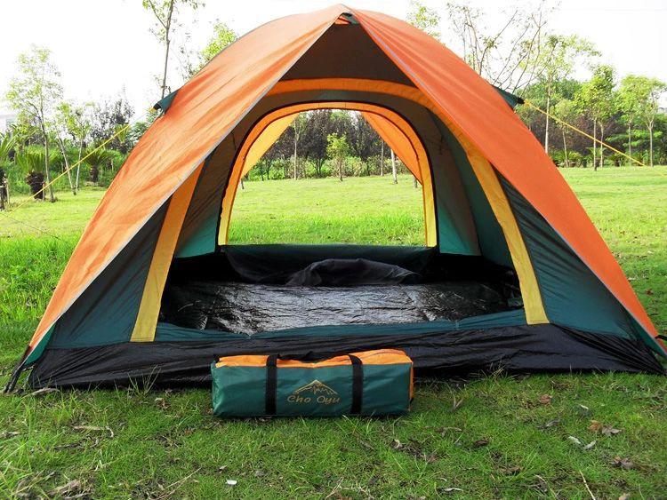 Tente de camping en plein air tente de camping Double adhésif anti-pluie 3 personnes tente classique modèles chauds