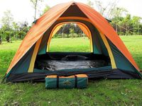 Outdoor camping tent camping tent Double adhesive anti rain 3 person tent classic hot models