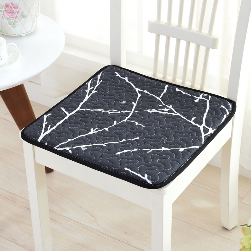 Warm Chair Back Seat Cushion Buttocks Pad Floral Pattern Cushion Soft Comfortable Dining Chair Cushion Home Office Seat Mats