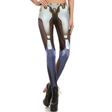 1677 Fitness Elastic Women Leggings Sexy Girl Polyester Slim Fit Workout Pants Trousers OW Game Muscle Sword GENJI Hero Printed
