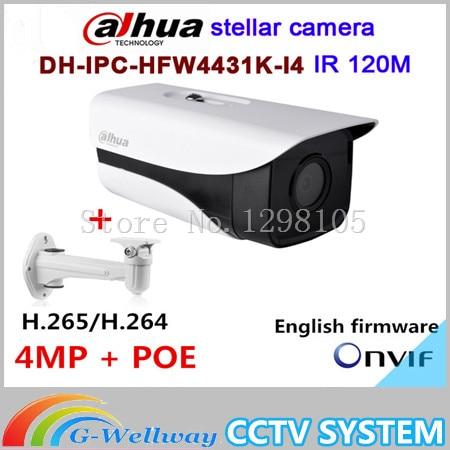 Original Dahua stellar camera 4MP DH-IPC-HFW4431K-I4 Network IP IR Bullet H265 H264  slot IPC-HFW4431K-I4 wholesale dahua dh ipc hdbw4233r as 2mp ir mini dome network ip camera ir poe audio sd card stellar h265 h264 ipc hdbw4233r as