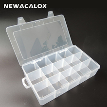 Transparent PP Tool Box Electronic Plastic Parts Toolbox Casket SMD SMT Container Screw Battery Component Storage Case