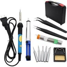 12pcsSet Full Kit Electric Soldering Iron 60W 220V 110V Adjustable Temperature