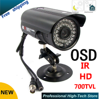 Big promotion 1/3Sony ccd Effio e 700TVL Waterproof CCTV Camera HD Outdoor security Camera 36 leds with OSD menu with Bracket