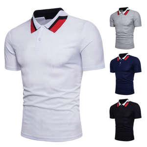 e191e629 2018 hirigin Summer Mens Slim Fit Short Sleeve POLO Shirts