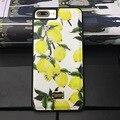 Italiano luxo sicília dg série jardim lemon estojo de couro folha de bananeira capa para iphone 7 7 plus 6 6 s plus telefone requintado caso