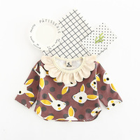 2017 Autumn Winter New Girl Clothes Doll Collar Character Print Kids Pullover Lovely Casual Baby T