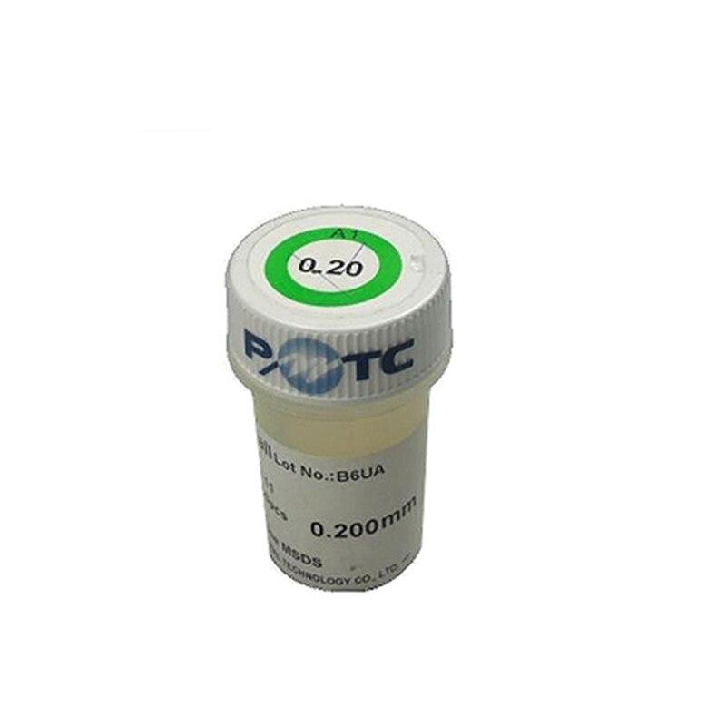 Bola de solda com chumbo pmtc 250 k bga 0.2/0.25/0.3/0.35/0.4/0.45/0.5/0.55/0.6/0.65/0.76mm para o trabalho de reballing da microplaqueta bga