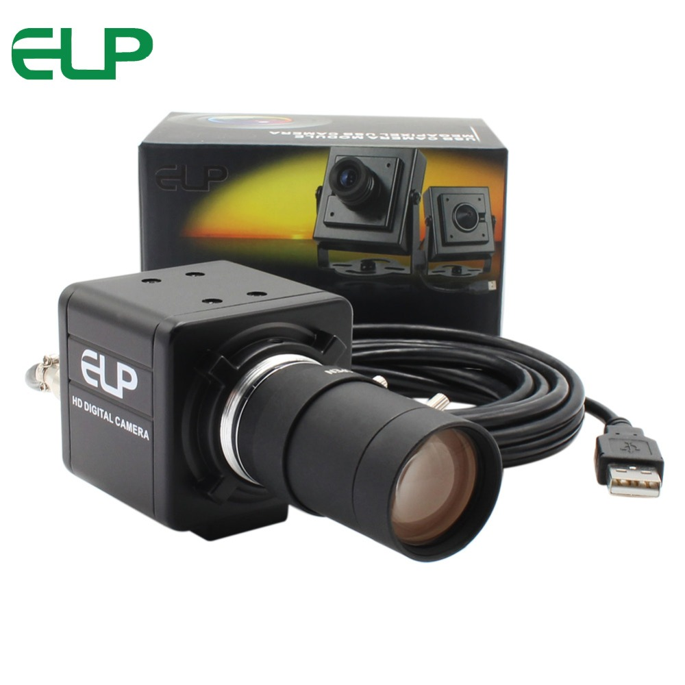 13 Megapixel 3840x2880 USB Webcam mini PC Webcam USB Camera with 5 50mm Varifocus Lens for PC Skype ,Video calling recording-in Webcams from Computer & Office