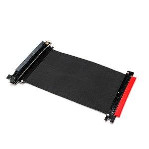 Image 2 - Cable de extensión de cinta PCI Express x16 a PCIE x16 macho a hembra Adaptador/elevador de tarjeta gráfica PCI E PCIE3.0 PCI E 16x para minería