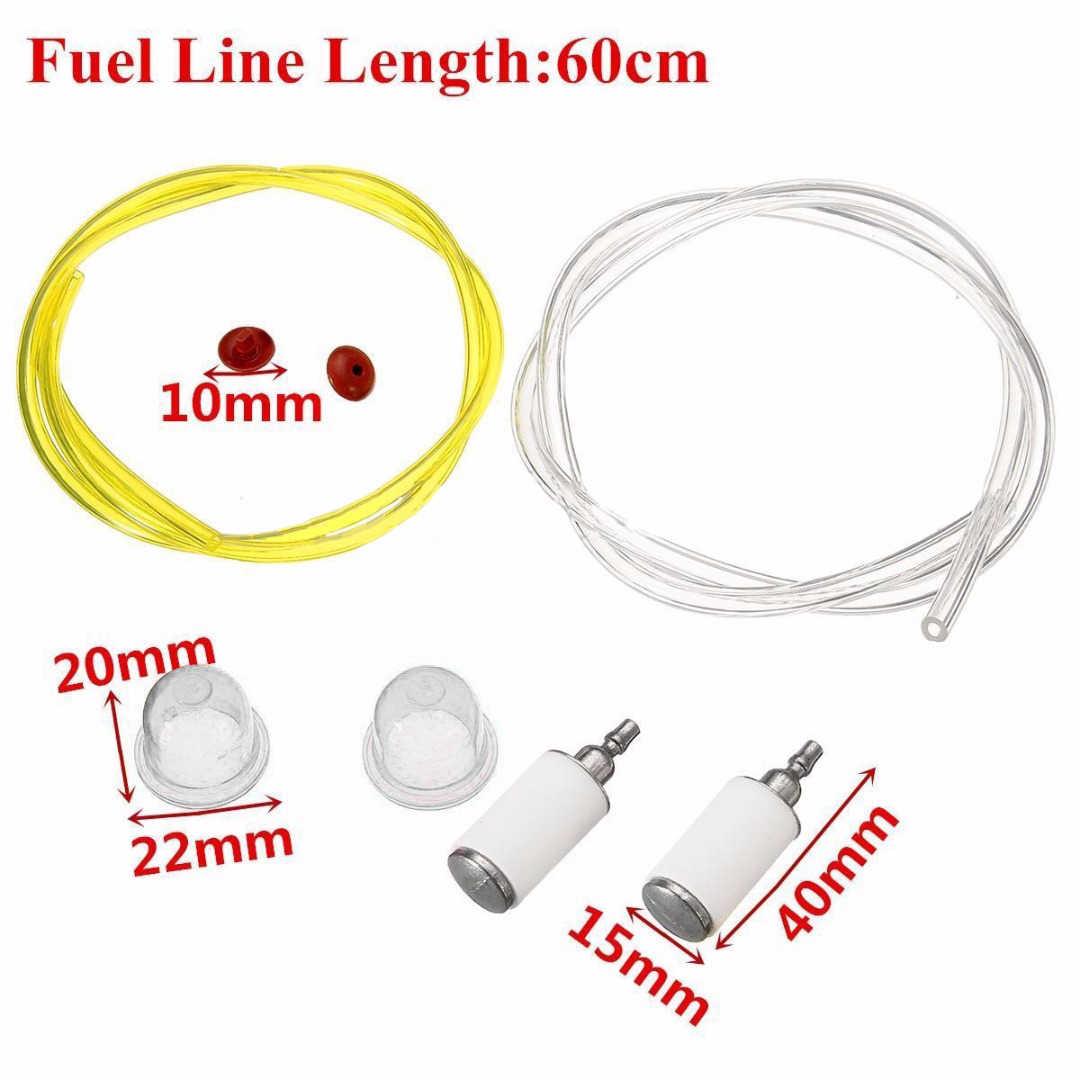 High Quality 60cm Fuel Line Hose Filter Primer Bulb Primer Cap Primer Check  Valve Lawn Mower Parts Mayitr Hot Selling