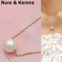 New Simulated-pearl Ball Droplets Pendant Necklaces Clavicle Chains Necklace Women Fashion Jewelry Accessories Wholesale QW38