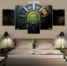5 Piece Fallout 4  Game HD Print Decor Painting Canvas Modern Wall Art Home Living Room Artwork