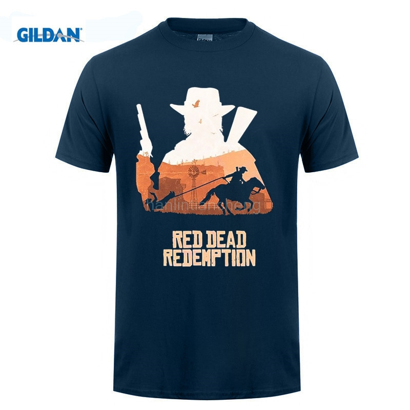 New 2019 Men'S Casual Letter Printed Top Quality Men'S Tees Best Red Dead Redemption John Marsto Movie T Shirt