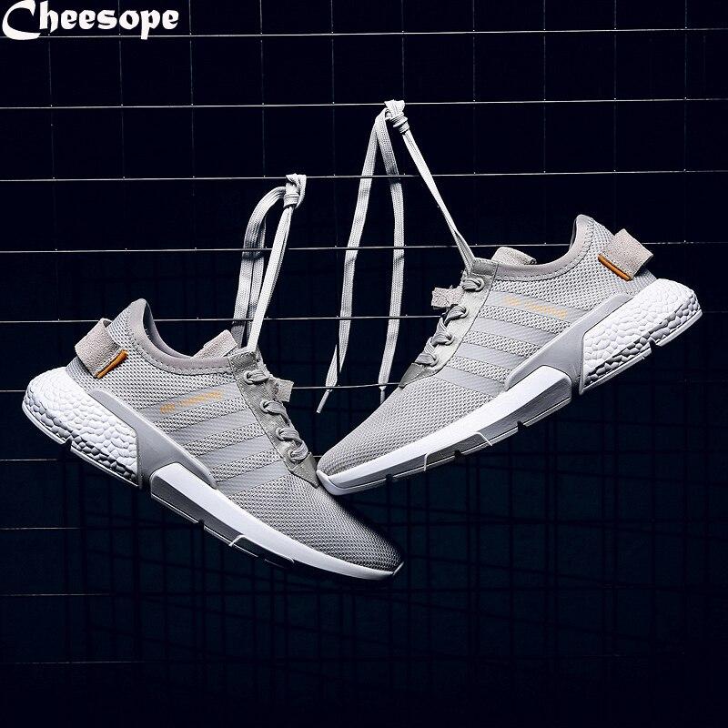 Hombres Black Malla Lace De Derby Super Adida Transpirable Light Marca Air Zapatillas Verano Up Casual grey white Zapatos CI1qnZw5Rx