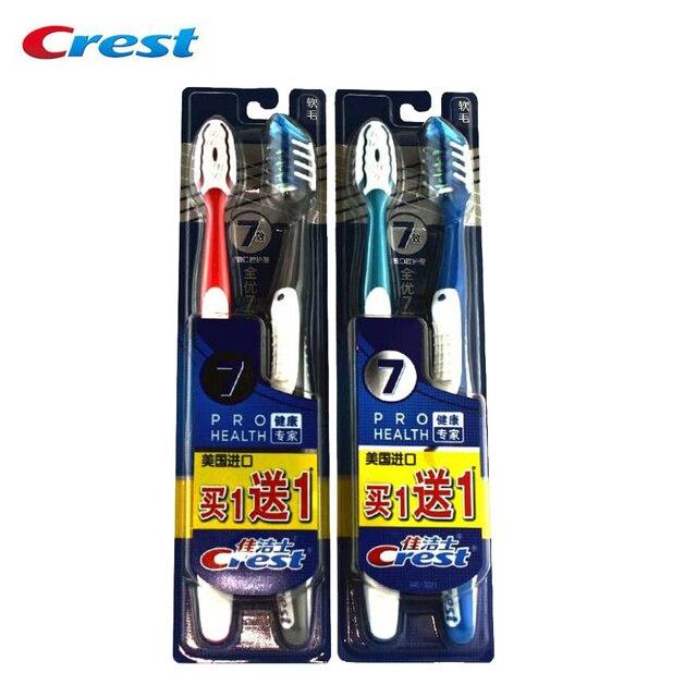 Семь эффект Crest Зубная щётка (1 + 1) гребня Америка импортировала подлинной специальные зуб Расчёски для волос 2 пачки