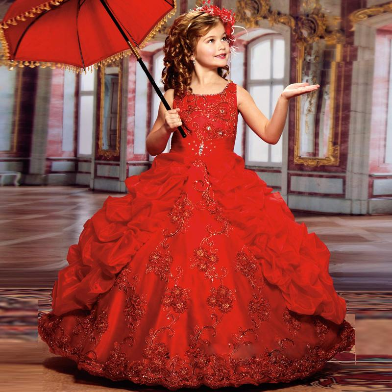 Sparkle Beauty Little Girls Pageant dresses with Beads Ball Gown ...