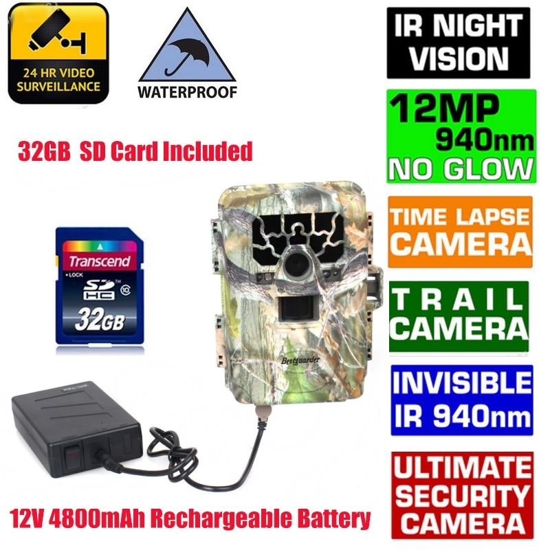 Blueskysea SG 880V 1080P No Glow 12MP 940NM Mini Infrared IR Digital Trail Game Scouting font