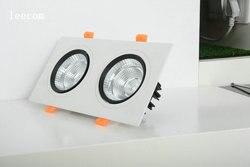 Затемняемая квадратная лампа 92*175 мм яркий Встраиваемый светодиодный потолочный светильник 5 Вт * 2 Точечный светильник украшение потолочна...