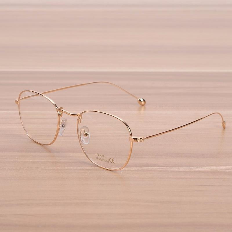 NOSSA Vintage Gouden Metalen Bril Dames & Heren Koperen Brillen - Kledingaccessoires