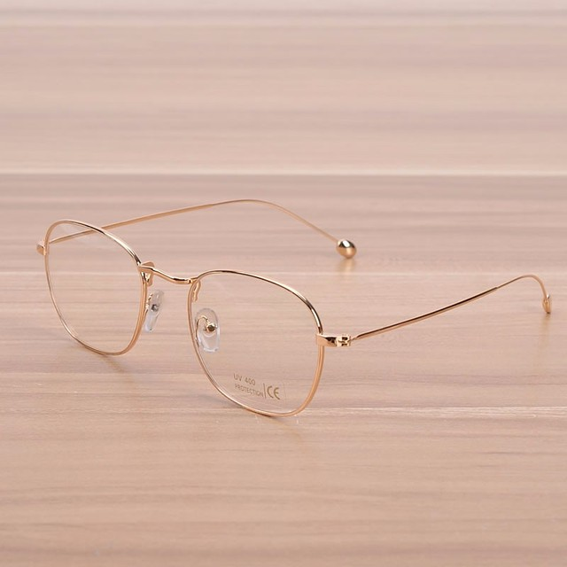 NOSSA Vintage Gold Metal Glasses Women & Men\'s Copper Eyeglasses ...