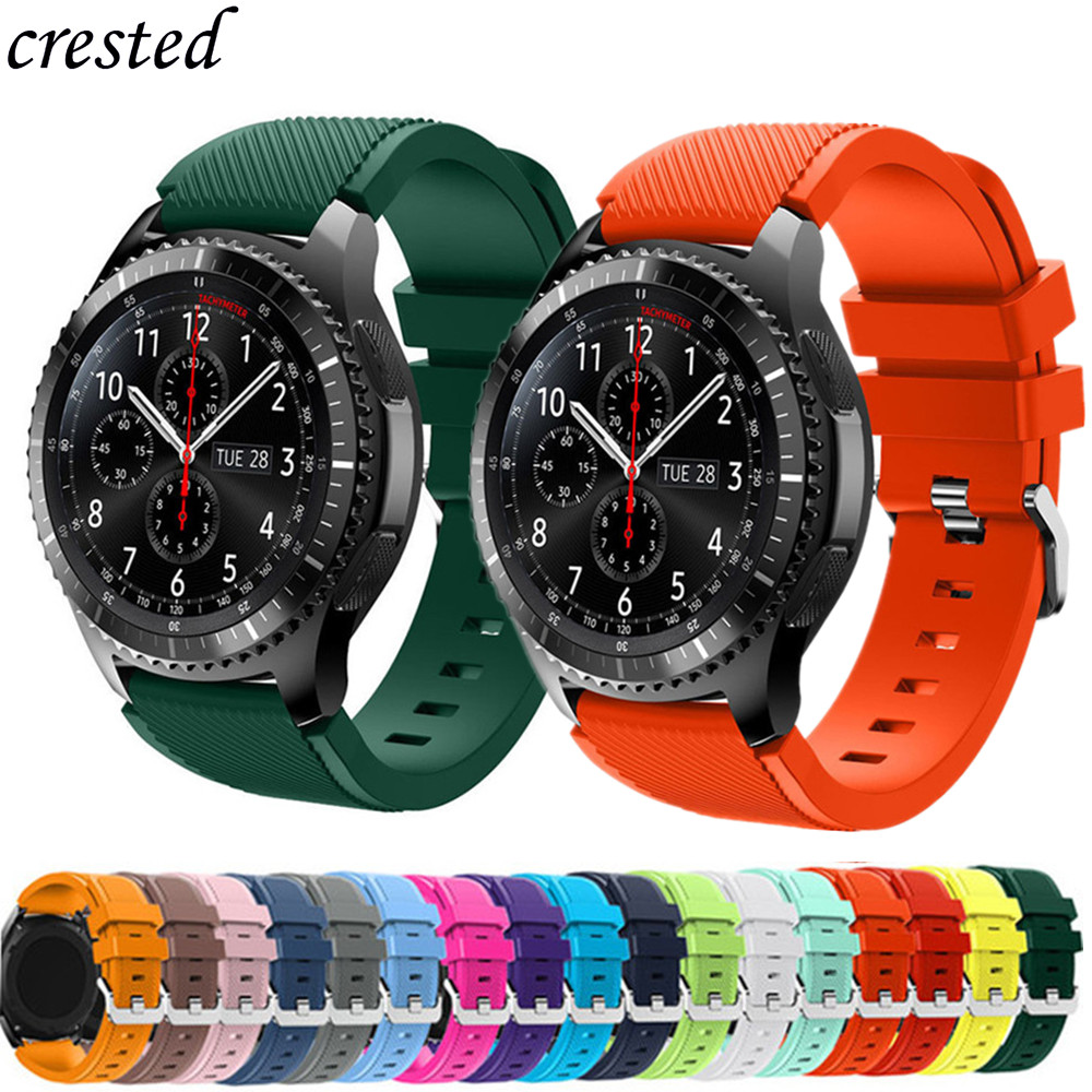 Gear S3 Frontier Band For Samsung Galaxy Watch 46mm/42mm/active 2 S2 42 46 20/22mm Silicone Bracelet Huawei Watch GT 2/2E Strap