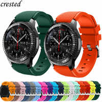 Gear s3 Frontier band for Samsung Galaxy Watch 46mm strap 22mm silicone bracelet Huawei watch GT strap Gear S 3 Classic 2 46 MM