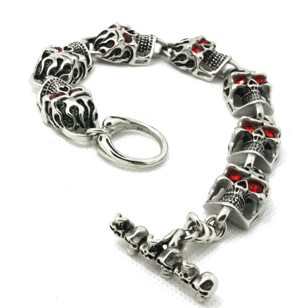 Support Drop Ship 59g Fashion Skull Bracelet 316L Stainless Steel Punk Cool Popular Gift - Rany Store store