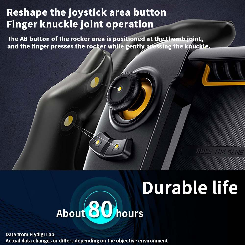 New Flydigi Wasp2 For PUBG bluetooth mobile Phone Game Gamepad One Hand Games Controller for iOS Android Smartphone Table - 5