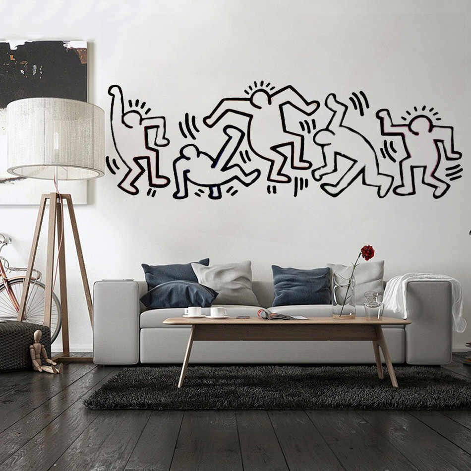 Art Décoration Chambre Keith Haring Wall Decal Art Home Decor Wall Sticker Viny Decoration Chambre For Living Rooms Bedroom Tv Wall Vinyl Stickers B479