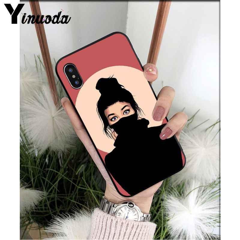 Yinuoda retty かわいい女の子独占高級ユニークな電話カバー apple の iphone 5 8 7 6 6S プラス X XS 最大 5 5S 、 SE XR カバー