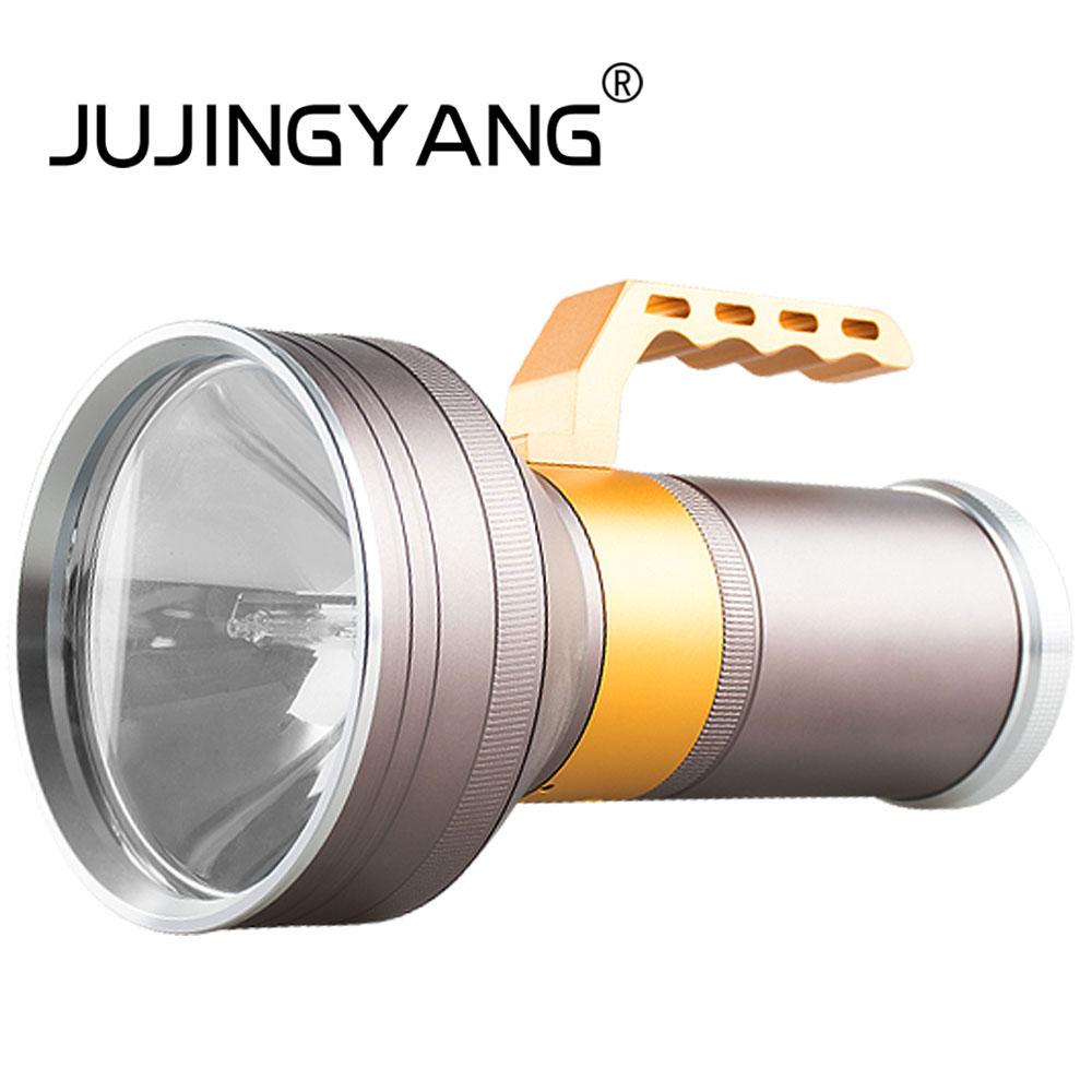 JUJINGYANG Strong light super bright long-range spotlight night fishing searchlight HID xenon fishing lights стоимость