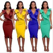 Fuerjia 2017 girls summer dress summer fashion sexy strapless bra shawl collar dress slim package hip derss