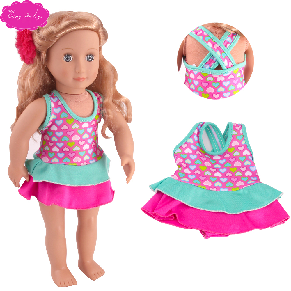 3 Sets Doll Clothes Mermaid Swimwear Bikini Outfit For America 18 inch Girl Doll