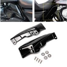 купить Triclicks Black Mid-Frame Air Deflectors Trim Air Deflector Trims For Harley Touring Road King Street Glide FLHX Electra Glide дешево