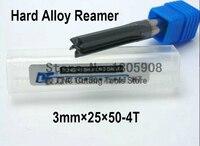 Freies verschiffen 1 STÜCKE 3mm * 25*50mm beschichtung zylinderschaft wolfram carbide  harten legierung reibahle  maschine chucking stahl K10