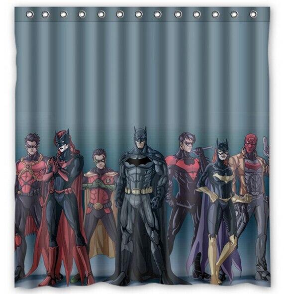 WARM TOUR Custom Batman Justice League Shower Curtain Bathroom Waterproof Fabric180X180cm In Curtains From Home Garden On Aliexpress
