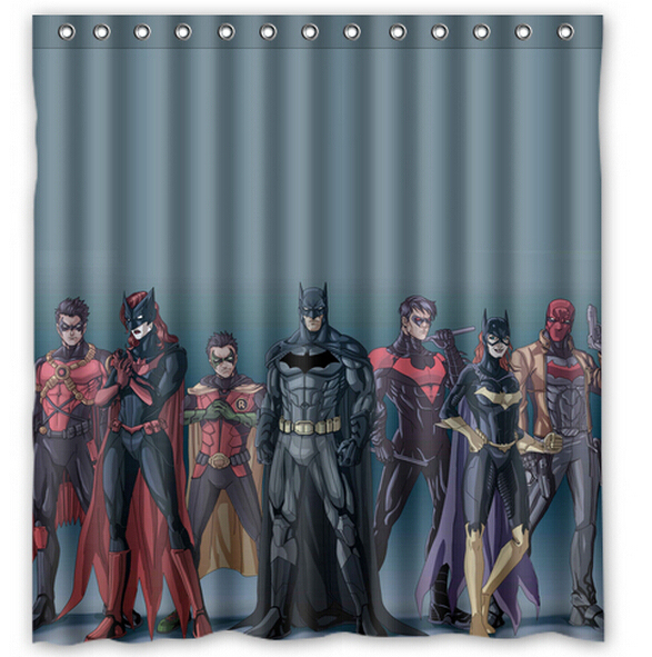 WARM TOUR Custom Batman Justice League Shower Curtain Bathroom Waterproof Fabric180X180cm
