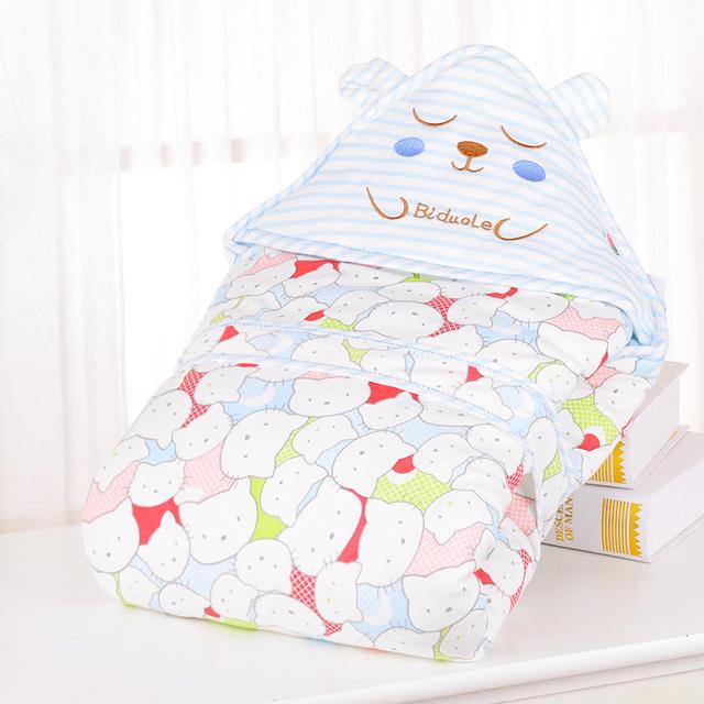 Personagem de Banda Desenhada Do Bebê macio Fraldas Lençóis Cobertores Sleepsack Pram Swaddleme Cobertor Coelho Toddlet Etamin Cama 608019