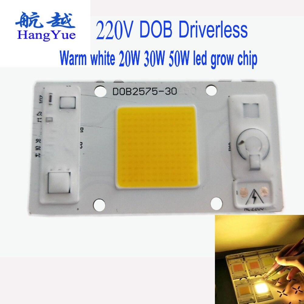 Warm white 20W 30W 50W led grow chip