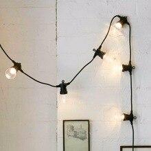 עמיד למים 23M 25 גלוב LED הנורה מחרוזת אורות לחיבור עבור חיצוני עץ חג המולד חתונה קישוט