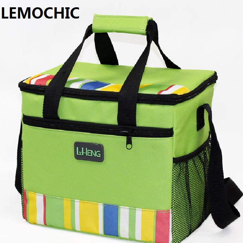 ФОТО 2016  Portable Insulated Canvas High quality lunch Bag Thermal Food Picnic Lunch Bags for Women kids Men Cooler Lunch Box