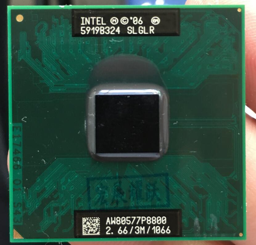Intel core 2 duo p8800 processador portátil cpu pga 478 cpu 100% funcionando corretamente