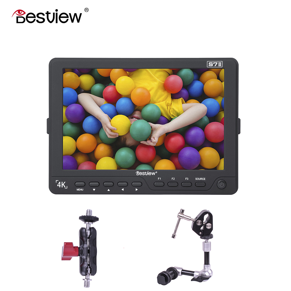 BESTVIEW SDI in/out S7II 4K camera External display HDMI HD monitor video TFT field 7 inch DSLR lcd monitor shootout 1920*1200